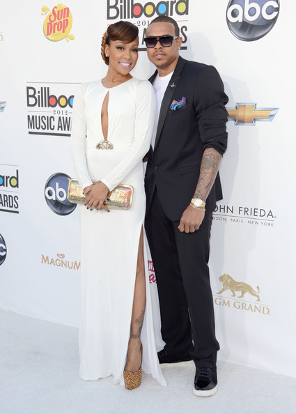 Monica and Shannon Brown at the 2012 Billboard Music Awards