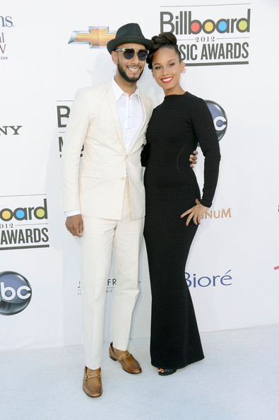 Swizz Beatz and singer Alicia Keys at the 2012 Billboard Music Awards