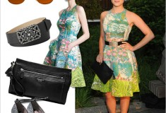 Get her haute look: Dianna Agron in Tracy Reese for Anthropologie, Miu Miu & Coach at the Coach Summer Party