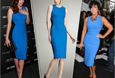 Liv Tyler & Kris Jenner in a Stella McCartney's blue and black Colorblocked Sheath Dress