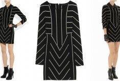 Haute buy: KARL Dawn striped merino wool mini dress