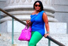 My style: Friday night brights (Tart 'Helen' top + Gap jeans + LOFT Caged Wedges + Balenciaga Giant Midday tote)