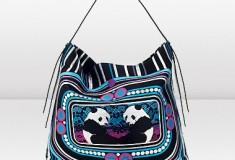 Jimmy Choo and Rob Pruitt LING-LING Jacquard Slouchy Tote Bag