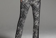 Narciso Rodriguez for DesigNation Basketweave Charmeuse Pants