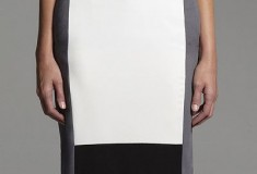 Narciso Rodriguez for DesigNation Colorblock Crepe Pencil Skirt