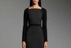 Narciso Rodriguez for DesigNation Colorblock Ponte Sheath Dress black