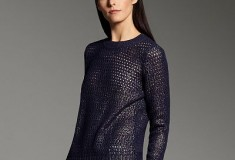 Narciso Rodriguez for DesigNation Foil Open-Work Sweater