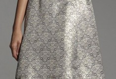 Narciso Rodriguez for DesigNation Jacquard A-Line Skirt
