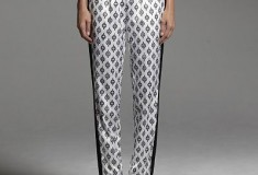 Narciso Rodriguez for DesigNation Medallion Charmeuse Pants