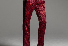 Narciso Rodriguez for DesigNation Paisley Charmeuse Pants