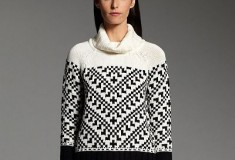 Narciso Rodriguez for DesigNation Textured Turtleneck Sweater