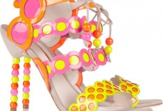 Sophia Webster Yayoi patent-leather and suede sandals