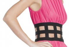 Haute buy: BCBGMAXAZRIA Gisele Pleated Cocktail Dress with Elastic Corset