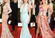Jennifer Lopez, Jessica Chastain and Halle Berry at the 70th Annual Golden Globe Awards