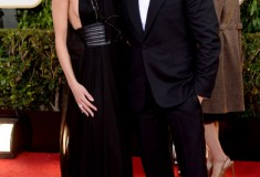 Rosie Huntington-Whiteley and Jason Statham at the 70th Annual Golden Globe Awards