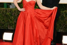 Zooey Deschanel at the 70th Annual Golden Globe Awards