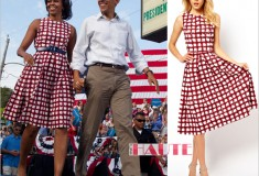 Michelle Obama's Check Print Skater Dress from ASOS is now back in stock!