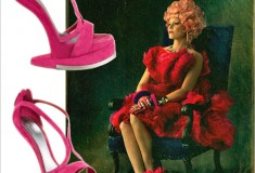 Haute splurge: Alexander McQueen Runway Platform No-Heel Sandals (as seen on 'Effie Trinket')