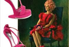 Haute splurge: Alexander McQueen Runway Platform No-Heel Sandals (as seen on 'Effie Trinket')