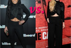 Who rocked it hotter: Tahiry Jose vs. Abigail Breslin in an Alice + Olivia Addison Bow Collar Crop Jacket
