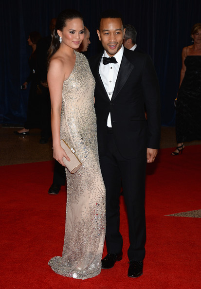 Chrissy Teigen and John Legend at the White House Correspondents' Association Dinner