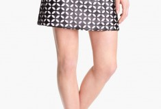 Haute buy: Vince Camuto Mod Cutout Faux Leather Skirt