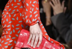 Diane von Furstenberg FW2013 snake-textured Carolina Lips clutch by DVF