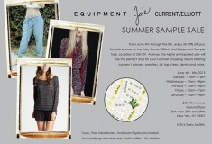 Sample Sale alert: Equipment, Joie & Current/Elliott