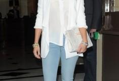 Get her haute look: Jennifer Lopez in Bec & Bridge, J Brand, Stark & Christian Louboutin