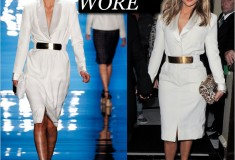 What she wore: Jennifer Lopez in Reem Acra, Christian Louboutin & Valentino