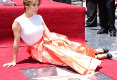 Jennifer Lopez receives a star on the Hollywood Walk of Fame