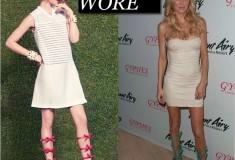 What She Wore: Brandi Glanville in Louis Vuitton 2012 Resort bow gladiator sandals