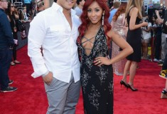 Nicole 'Snooki' Polizzi with Jionni LaValle at the 2013 MTV Video Music Awards