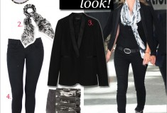 Get her haute look: Kate Moss in Wildfox Denim and Isabel Marant