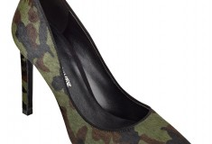 Cameron Silver For Nine West JACE pump in camo pony