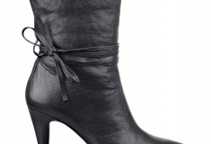 Cameron Silver For Nine West PAINTEDHRT bootie in black leather