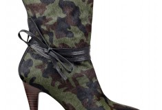 Cameron Silver For Nine West PAINTEDHRT bootie in camo pony