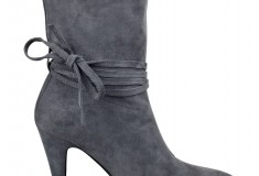 Cameron Silver For Nine West PAINTEDHRT bootie in dark grey suede
