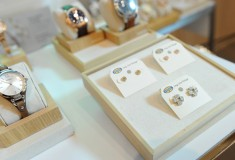 Fossil watches and earrings at Vogue styling event