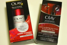 Olay Regenerist Micro-Sculpting Eye Cream and Lash Serum Duo and Regenerist Wrinkle Revolution help re-energize your skin!