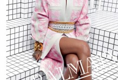 Balmain spring campaign ad featuring Rihanna