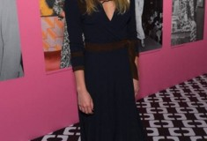 Alexandra Richards in a vintage DVF Wrap Dress and Rowan Heels