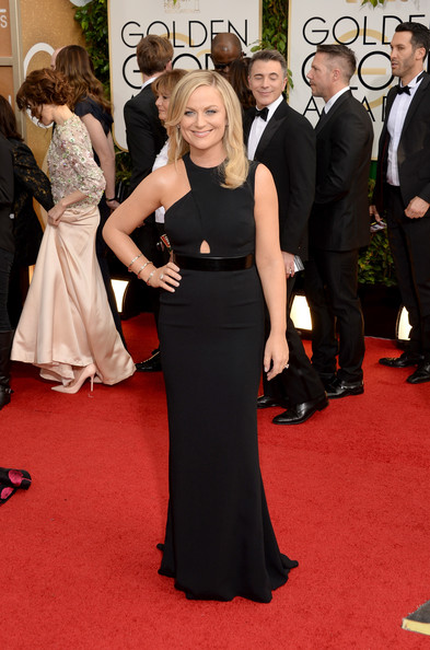 Amy Poehler at the 71st Annual Golden Globe Awards