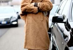 Carine Roitfeld in a Max Mara camel coat