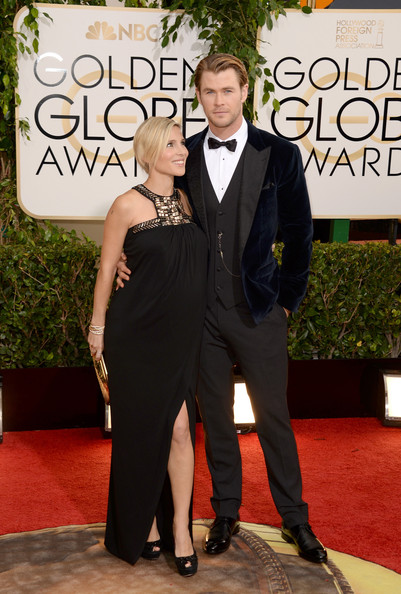 Chris Hemsworth and Elsa Pataky at the 71st Annual Golden Globe Awards