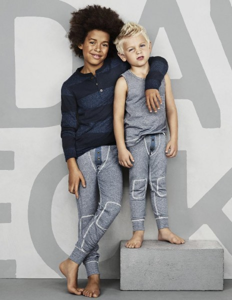 David Beckham designs kids Bodywear for H&M