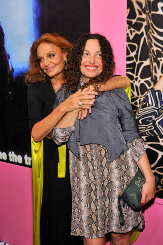 Diane and Tatiana von Furstenberg in the DVF Polly Silk Shirt Dress