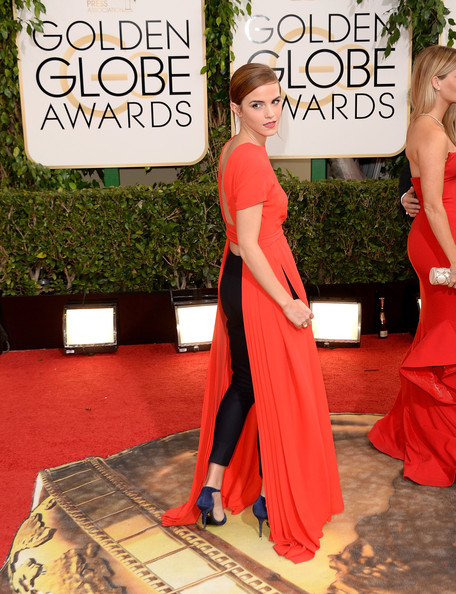 Emma Watson t the 71st Annual Golden Globe Awards