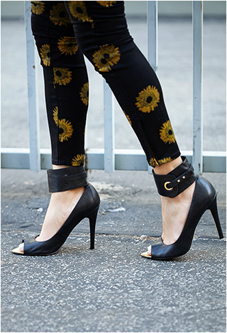Forever 21 Rebel Peep-Toe Pumps