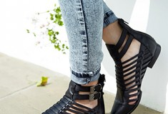 The Forever 21 premium leather footwear collection is all under $100!